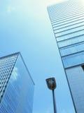 现代城市摘要场面 免版税库存图片
