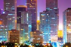 现代城市横向  免版税库存照片