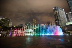 现代城市风景,夜场面 库存图片