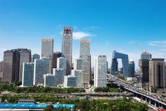 现代城市,北京横向  免版税库存图片