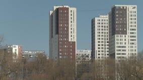 现代多层的大厦视图 影视素材