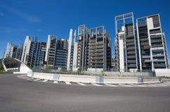 现代大厦和办公室在新的Portello地区,在米兰Fiera附近,米兰市,意大利 免版税图库摄影