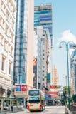 现代大厦和都市风景在尖沙咀在香港 免版税库存图片