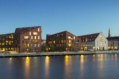 现代大厦在哥本哈根 库存图片