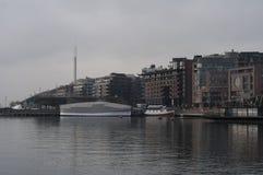 现代大厦在奥斯陆 免版税库存照片