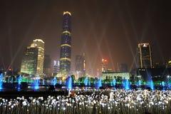 现代大厦在广州 库存照片