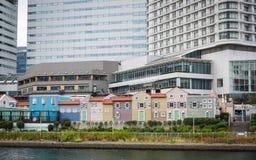 现代大厦在横滨,日本 免版税库存图片