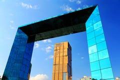 现代大厦在深圳 免版税库存照片