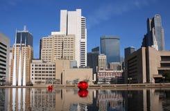 现代大厦在达拉斯 免版税图库摄影