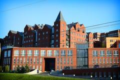 现代大厦在Dnipro镇 免版税库存照片