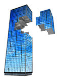 现代大厦的片段 皇族释放例证