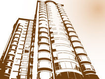 现代大厦的瓷 库存图片