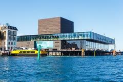 现代大厦的看法在从渠道的哥本哈根 库存图片