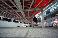 现代大厦,体育场,炫耀大厦 免版税库存照片