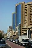 现代大厦,迪拜,阿拉伯联合酋长国 库存照片