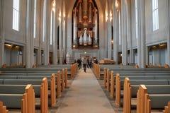 现代大教堂内部 免版税库存照片