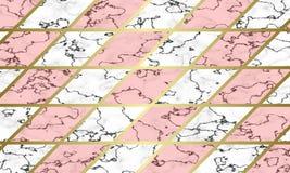 现代大理石纹理背景模板 免版税库存图片