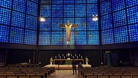 现代天主教会柏林德国 免版税库存图片