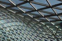 现代天花板几何商业中心 图库摄影