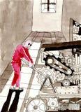 现代奴隶制 免版税库存照片