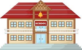 现代学校纸盒 皇族释放例证