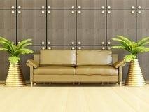 现代客厅内部装饰业。 皇族释放例证