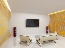 现代客厅内部 图库摄影
