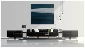 现代客厅设计,内部背景 库存照片