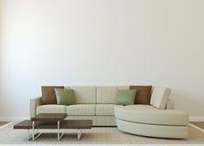 现代客厅 向量例证