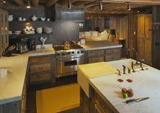 现代客舱的厨房 库存图片