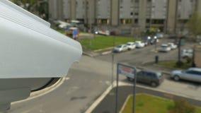 现代室外安全监控相机 股票视频