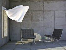 现代家具的豪华 库存照片