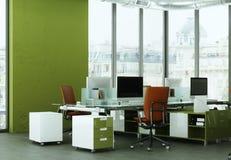 现代家庭办公室室内设计3d翻译 库存图片