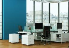 现代家庭办公室室内设计3d翻译 图库摄影