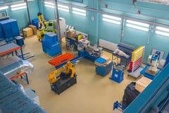 现代工业工作场所内部在Skolkovo Technopark 图库摄影