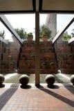 现代巴塞罗那的喷泉 库存照片