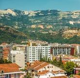现代市的看法布德瓦是黑山的主要旅游中心 免版税库存照片