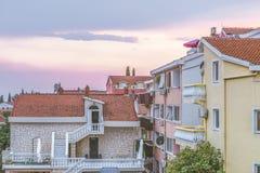 现代市的看法布德瓦是黑山的主要旅游中心 库存照片