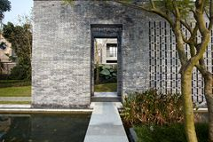 现代庭院 库存照片