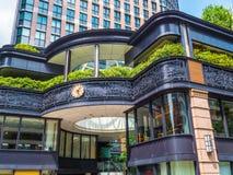 现代建筑学在东京街市-东京,日本- 2018年6月12日 免版税图库摄影