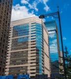 现代建筑学在东京街市-东京,日本- 2018年6月19日 库存照片