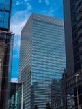 现代建筑学在东京街市-东京,日本- 2018年6月19日 库存图片