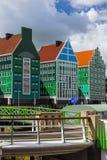 现代建筑学在赞丹-荷兰 免版税库存图片