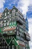 现代建筑学在赞丹-荷兰 免版税库存照片