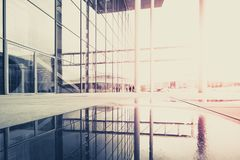 现代建筑学,修造的外部-抽象都市风景与 库存图片