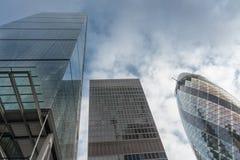 现代建筑风格的商业摩天大楼在城市  免版税图库摄影