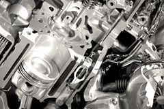 现代引擎部分 免版税库存图片