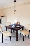 现代房子内部的厨房 图库摄影