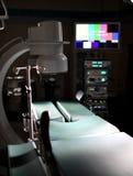 现代手术室背景医疗医院内部的用麻醉学机器设备 库存图片