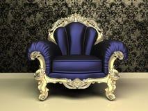 现代扶手椅子巴洛克式的装饰的框架 库存例证